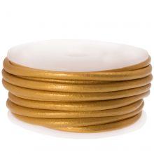 Cuir Métallique DQ (3 mm) Gold (5 Mètres)