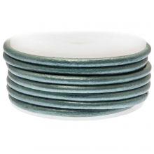 Cuir Métallique DQ (3 mm) Blue Green (5 Mètres)