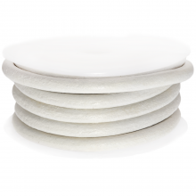 Cuir régulier DQ (4 mm) White (2.5 mètres)