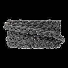 Cuir tressé DQ (6 x 3.5 mm) Warm Grey (1 mètre)