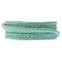 Cuir tressé DQ (6 x 3.5 mm) Mint Green (1 mètre)
