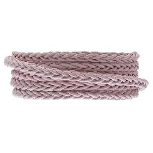 Cuir tressé DQ (4 mm) Soft Pink (1 mètre)