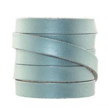 Cuir Plat DQ (10 x 2 mm) Metallic Powder Blue (1 mètres)