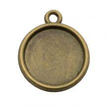 Serti 1 Anneau  (12 mm) Bronze (10 pièces)