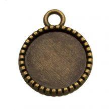Serti 2 Anneaux (12 mm) Bronze (10 pièces)