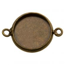 Serti 2 Anneaux (12 mm) Bronze (5 pièces)