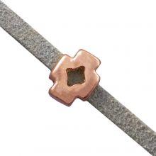 Perles Coulissantes (trou 3 x 2 mm) Or Rose (10 pièces)