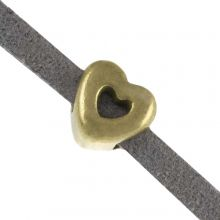 Perles Coulissantes (trou 3 x 2 mm) Bronze (10 pièces)