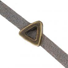 Perles Coulissantes (trou 3 x 1.8 mm) Bronze (10 pièces)