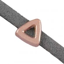 Perles Coulissantes (trou 3 x 1.8 mm) Or Rose (10 pièces)