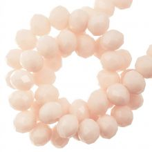 Perles Facettes Rondelle (2 x 3 mm) Salmon (130 pièces)