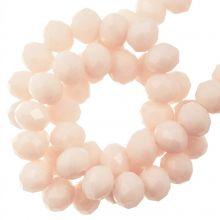 Perles Facettes Rondelle (4 x 6 mm) Salmon (90 pièces)