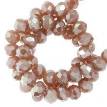 Perles Facettes Rondelle (3 x 4 mm) Canyon Clay (130 pièces)