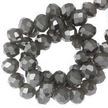 Perles Facettes Rondelle (3 x 4 mm) Antique Silver (130 pièces)