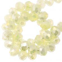 Perles Facettes Rondelle (4 x 6 mm) Pale Yellow (90 pièces)