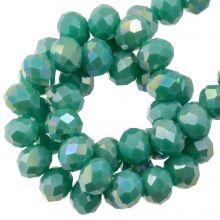 Perles Facettes Rondelle (4 x 6 mm) Aqua Green (90 pièces)