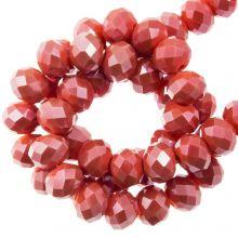 Perles Facettes Rondelle (3 x 4 mm) Coral Red (130 pièces)