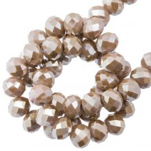 Perles Facettes Rondelle (4 x 6 mm) Mocha (90 pièces)