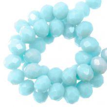 Perles Facettes Rondelle (4 x 6 mm) Baby Blue (90 pièces)