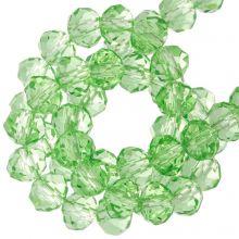 Perles Facettes Rondelle (4 x 6 mm) Bright Green (90 pièces)