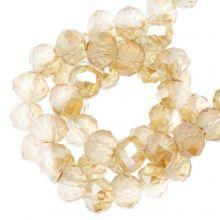 Perles Facettes Rondelle (4 x 6 mm) Sepia (90 pièces)