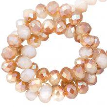 Perles Facettes Rondelle (2 x 3 mm) Bright Sepia (130 pièces)