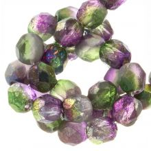 Perles Facettes Fire-Polished DQ (Magic Orchid) 6 mm (25 pièces)