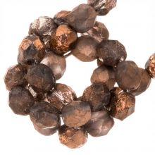 Perles Facettes Fire-Polished DQ (Capri Gold Dark) 6 mm (25 pièces)