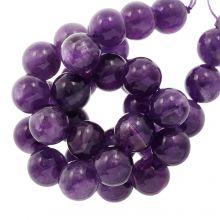 Perles Améthyste (12 mm) 33 pièces