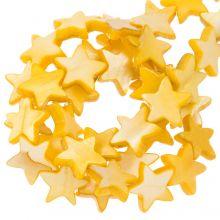 Perles Coquillage Étoile (11 mm) Orange (38 pièces)