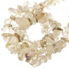 Perles Quartz Rutile (5- 8 mm) 100 pièces