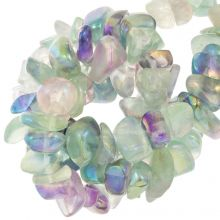 Perles Fluorite Chips (13 -23 mm) 35pièces