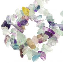Perles Fluorite Chips (5 - 8 mm) 200 pièces