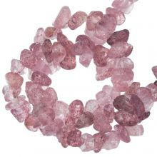 Perles Quartz Fraise Chips (5 - 7 mm) 240 pièces