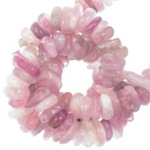 Perles Rose Quartz (11 - 17 x 9 - 11 x 2 - 4 mm) 120 pièces