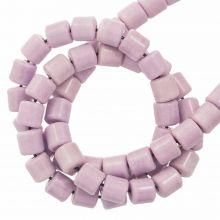 Perles Agate Colorées (4.5 x 4.5 mm) Lilac (90 pièces)