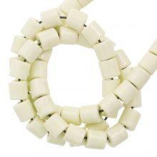 Perles Agate Colorées (4.5 x 4.5 mm) Pale Yellow (90 pièces)
