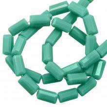 Perles en Verre Opaques (7 x 3 mm) Mint Green (80 pièces)