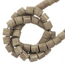 Perles Agate Colorées (4.5 x 4.5 mm) Brown Grey (90 pièces)