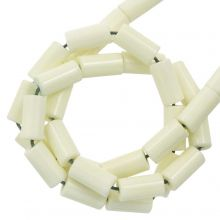 Perles Agate Colorées (8 x 4 mm) Light Yellow (45 stuks)