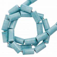 Perles Agate Colorées (8 x 4 mm) Light Sky Blue (45 stuks)