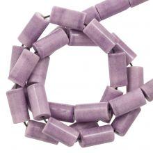 Perles Agate Colorées (8 x 4 mm) Plum (45 stuks)