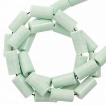 Perles Agate Colorées (8 x 4 mm) Mint Green (45 stuks)