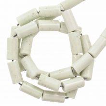 Perles Agate Colorées (8 x 4 mm) Pale Ivory (45 stuks)