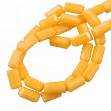Perles en Verre Opaques (7 x 3 mm) Honey Yellow (80 pièces)