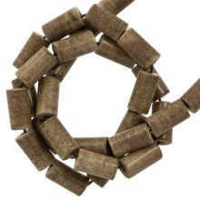 Perles Agate Colorées (8 x 4 mm) Brown (45 stuks)