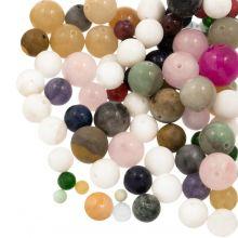 Mélange de Perles en Pierre Naturelle (4, 6, 8, 10, 12 mm) Mix Color (100 gr)