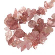 Perles Quartz Lavande Chips (5 - 8 mm) 200 pièces