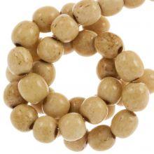 Perles en Os (6mm) Brown (66 pièces)