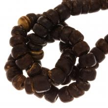 Perles Noix de Coco (4 x 5 mm) Natural Brown (110 pièces)